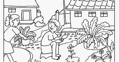 Coloring Garden Pages Gardening Printable Colouring Flower