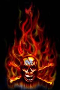 Flaming Skull Wallpapers - Wallpaper Cave