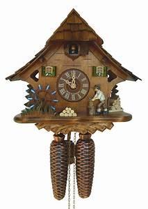Cuckoo, Clock, 8-day-movement, Chalet-style, 27cm, By, Anton, Schneider, 9