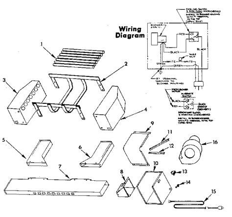 Heat Exchanger Part Diagram by Kenmore Fireplace Heat Exchanger Parts Model 34495050