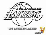 Basketball Coloring Lakers Angeles Los Bounce Printables Pages Yescoloring Sports Nba Print sketch template