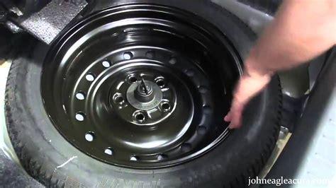 change  spare tire john eagle acura youtube