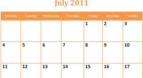printable blank july monthly calendar printable blank