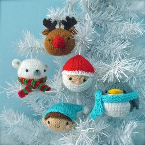 christmas ornaments knitting pattern sets