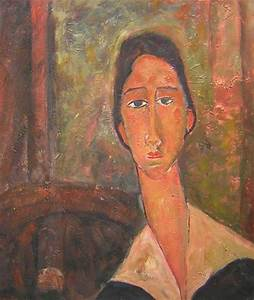 Peinture Visage Femme : tableau peinture modigliani visage femme huile sur toile ~ Melissatoandfro.com Idées de Décoration