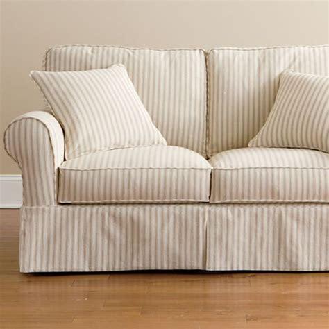 jcpenney slipcover sectional sofa friday stripe slipcovered loveseat tan stripe