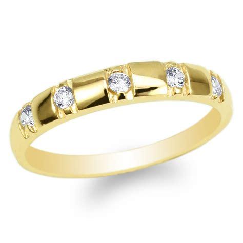 womens 10k yellow gold cz luxury engagement wedding band ring size 4 10 ebay
