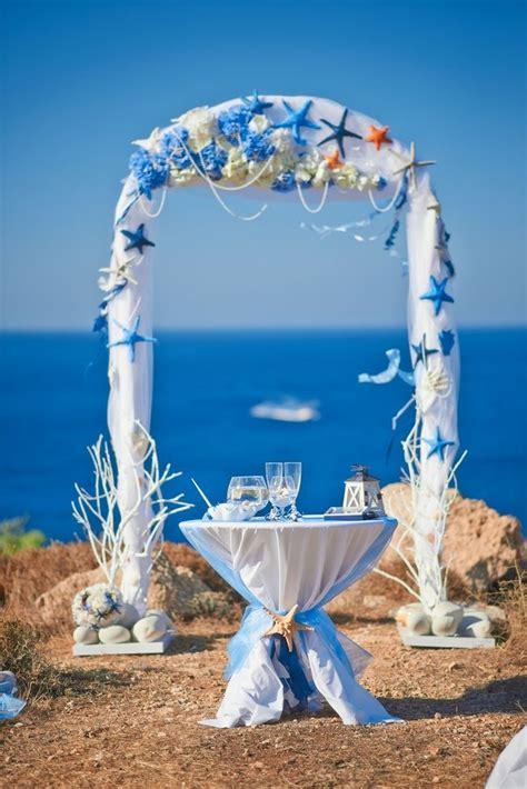 beach theme wedding beautifully decorated wedding arch