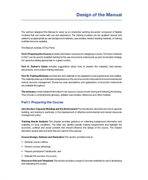 resource guide template manual template 7 free pdf word documents free premium templates