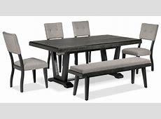 Imari 6Piece Dining Room Set Black and Grey