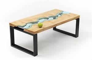 Table En Bois Et Resine : des rivi res tables ~ Dode.kayakingforconservation.com Idées de Décoration