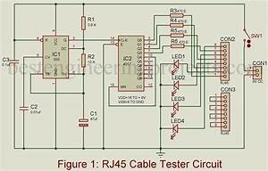 Rj45 Cable Tester Circuit