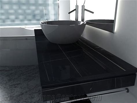 Roland Black Marble Bathroom Countertops from China