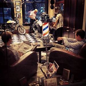 Lots of shaves and haircuts on a busy Friday at the barber ...