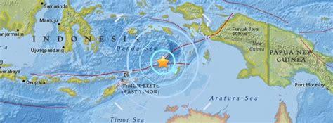 strong  earthquake hits banda sea indonesia