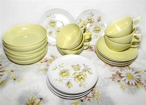 vintage melamine dishes images  pinterest