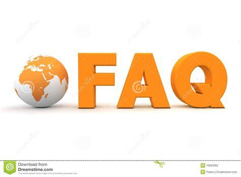 World Faq Orange Stock Illustration. Image Of Helpdesk