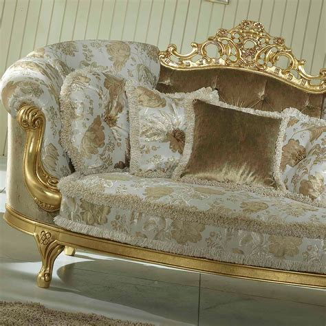 baroque style italian gold leaf  seater sofa juliettes