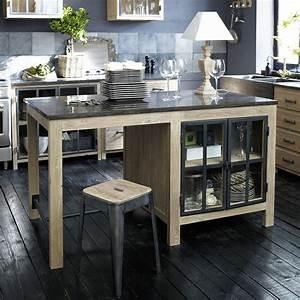 Meuble Ilot Central : lot central en pin recycl copenhague meuble de cuisine ~ Teatrodelosmanantiales.com Idées de Décoration