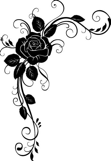 Adhésif mural rose ornement floral - TenStickers