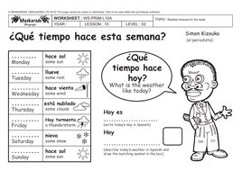 spanish at school y4 5 the weather forecast for the week