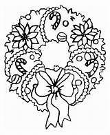 Christmas Coloring Wreath Ornament Sweet Netart sketch template