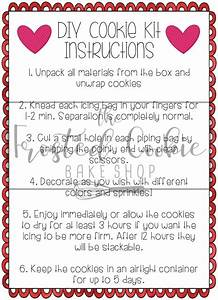 Valentine Cookie Kit Instructions