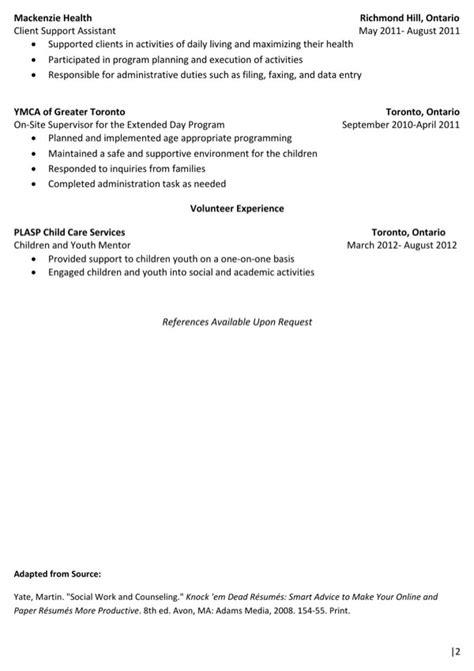 psychology sample resume   page