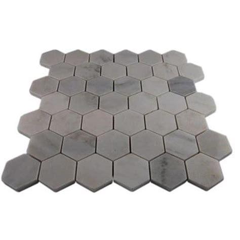 home depot hexagon marble tile splashback tile hexagon 12 in x 12 in x 8 mm