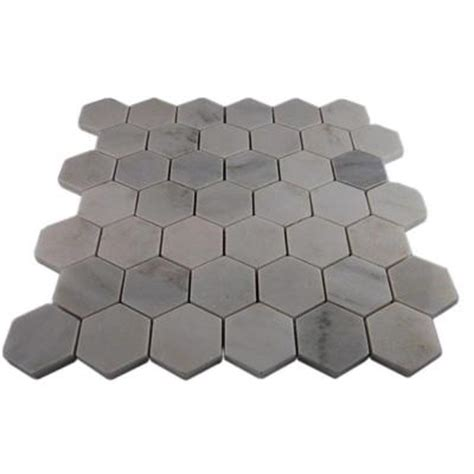 Home Depot Hexagon Marble Tile by Splashback Tile Hexagon 12 In X 12 In X 8 Mm