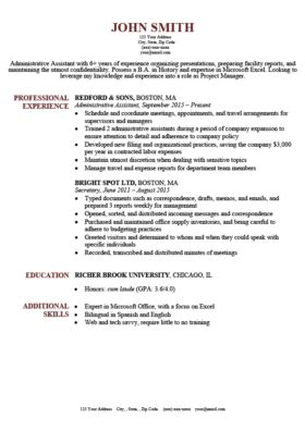 It Resume Templates by Expert Preferred Resume Templates Basic Simple