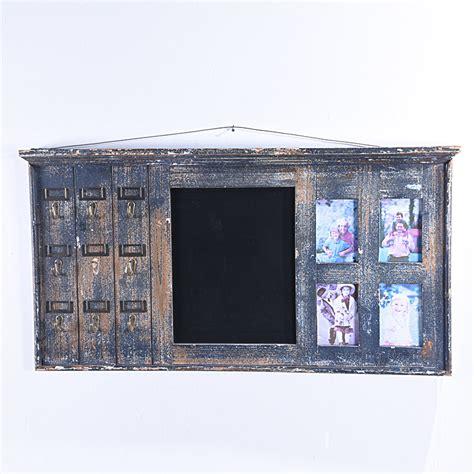 shabby chic black wall rack chalkboard  hook  photo frame buy chalkboard shabby chic