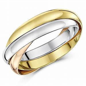 3mm 18ct gold 3 colour russian wedding ring 18ct 2 With three gold wedding rings