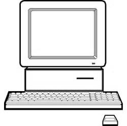 Computer Clip Art Black and White