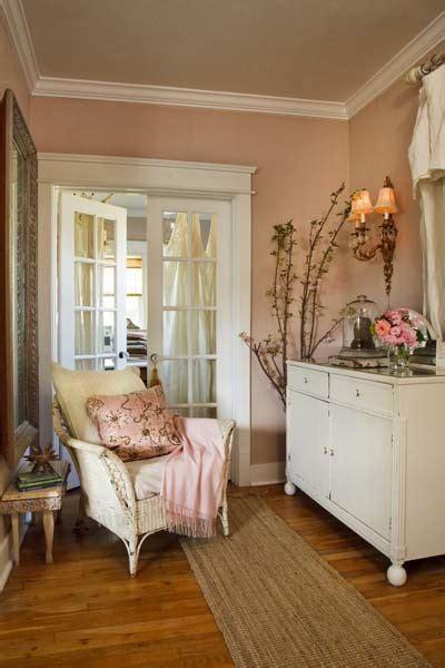 peachy pink walls   cool white