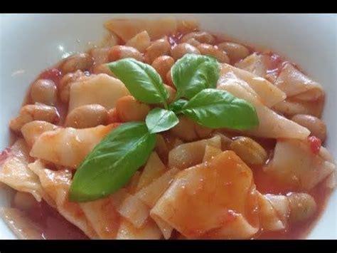 cucina tipica della cania sagne e fagioli primo piatto della cucina tipica