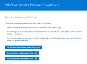 new windows server insider preview build 16278 released azure and devops
