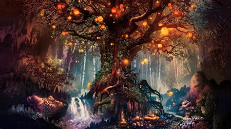 forest fantasy artwork   hd  wallpapers