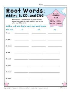 find the root word worksheet for 1st grade k12