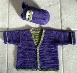Baby Boy Sweater Crochet Pattern
