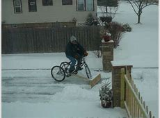 DIY Bike Snow Plows DIY Bike Snow Plow