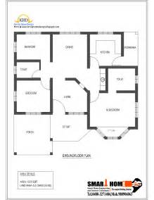 single level home plans single floor house plan and elevation 1320 sq ft kerala home design and floor plans