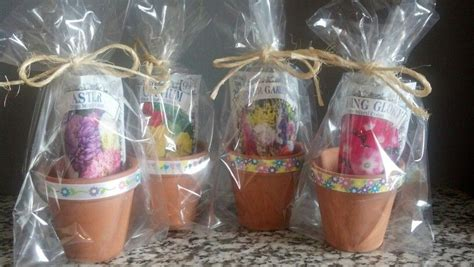 mini flower pot favors   guests mistys shower