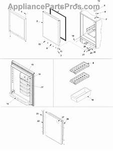 Parts For Amana Arb2214cw    Parb2214cw0  Refrigerator Door
