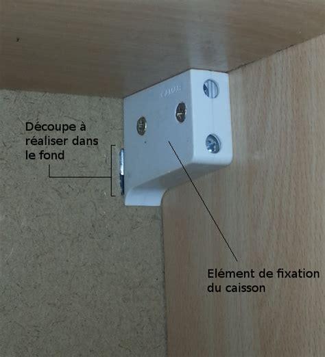 fixation meuble haut cuisine fixation meuble cuisine haut sur placo image sur le