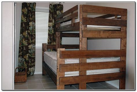 twin  full bunk bed plans beds home design ideas