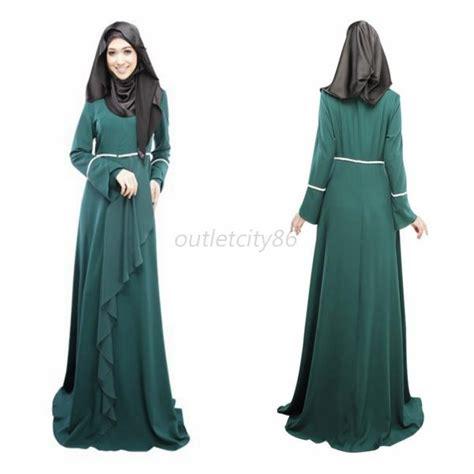 kaftan abaya islamic muslim cocktail womens vintage sleeve maxi dress ebay