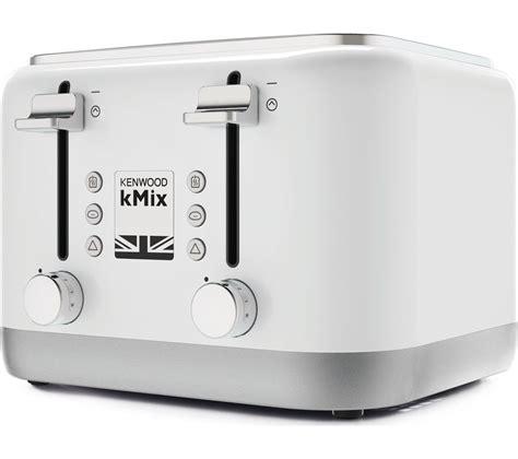 kenwood toaster kmix buy kenwood kmix 4 slice toaster white free delivery currys