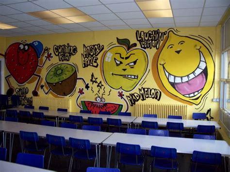 cool fruit wall murals  kindergarten classroom picture