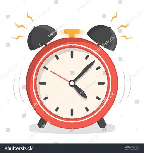 design alarm clock alarm clock flat design vector stock vector 598917047